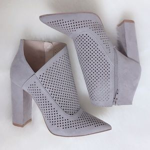 🎉 HP! Light Gray asymmetrical Heels Ankle Booties